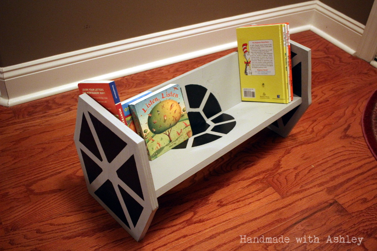 A TIE fighter bookshelf