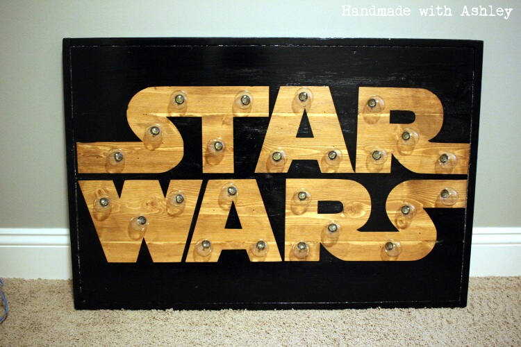 Diy Star Wars Marquee Wall Art Tutorial Handmade With Ashley