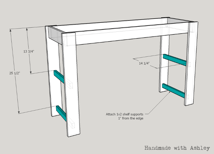 Attach the shelf supports