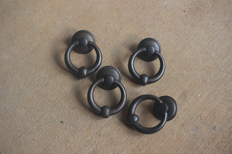 "Large 2"" Ring Pulls (Dark Antique Bronze) from D. Lawless Hardware"
