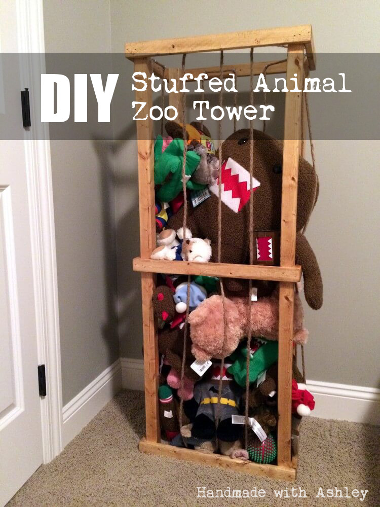 Diy stuffed animal zoo tower plans by ana white handmade with ashley diy stuffed animal zoo tower solutioingenieria Image collections