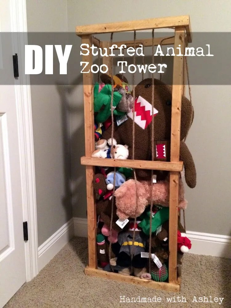 DIY Stuffed Animal Zoo Tower