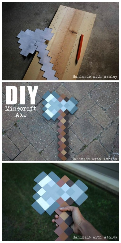 DIY Minecraft Axe