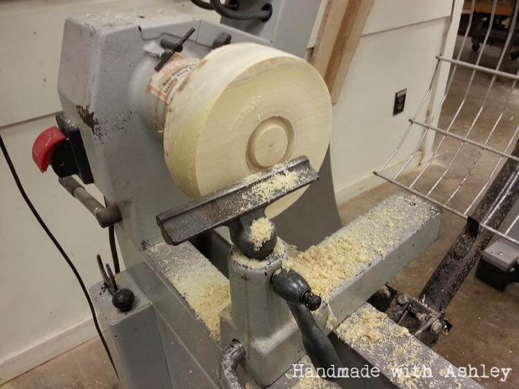Creating a chuck tenon