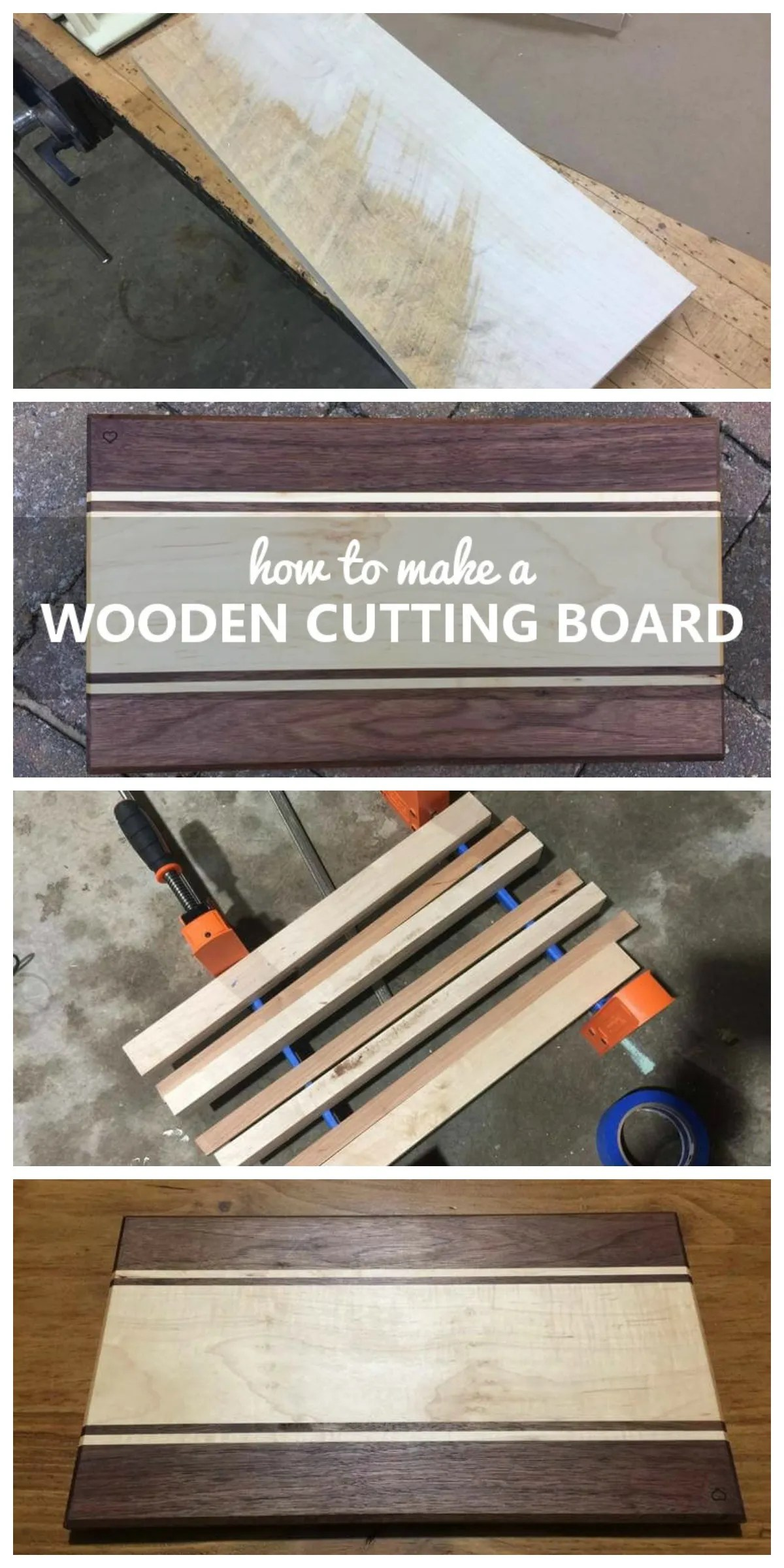 How To Make A Wooden Cutting Board Handmade With Ashley