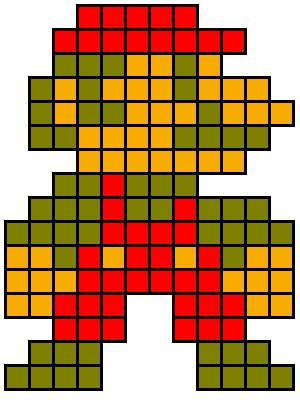 Diy Giant Pixel Mario Wall Art Handmade With Ashley
