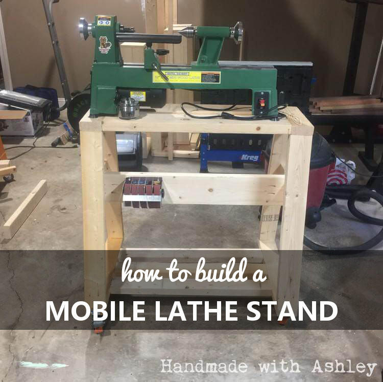 How to build a mobile lathe stand
