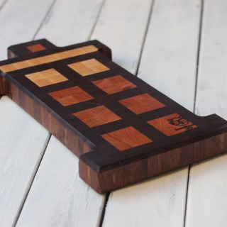 Tardis end grain cutting board