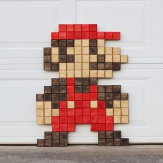 DIY Giant Pixel Mario Wall Art