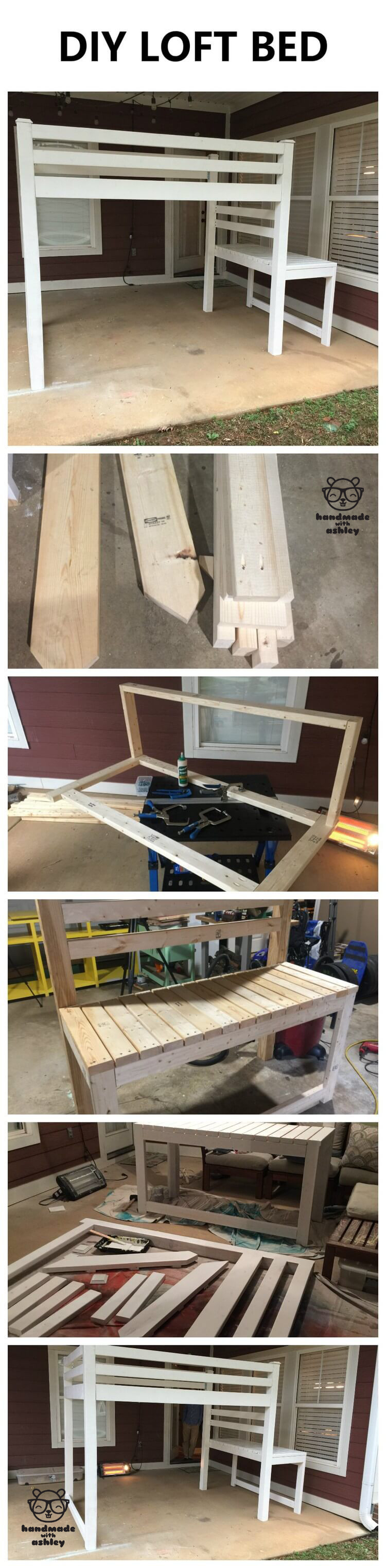 diy junior loft bed free woodworking plans by ana white