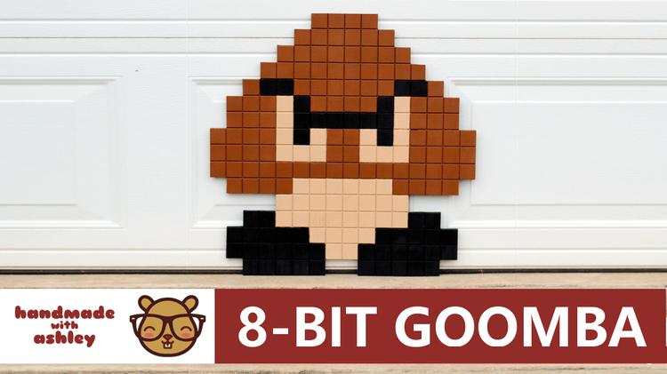 Super Mario Bros 8 Bit Goomba Pixel Art Diy Tutorial