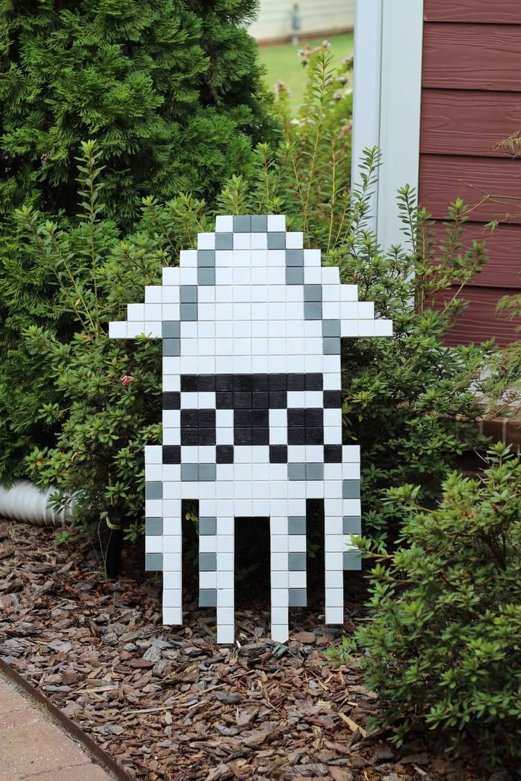 8 Bit Blooper Super Mario Bros Nes Pixel Wall Art Tutorial