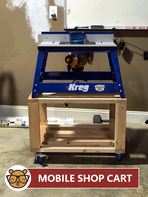 Awesome Mobile Shop Cart For Benchtop Router Diy Woodworking Uwap Interior Chair Design Uwaporg