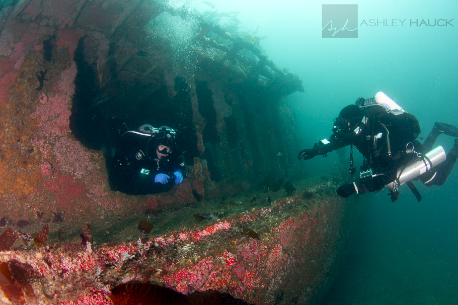 Divers in the wheelhouse
