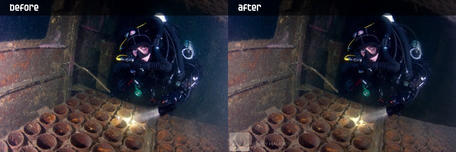 Before & After Backscatter Removal