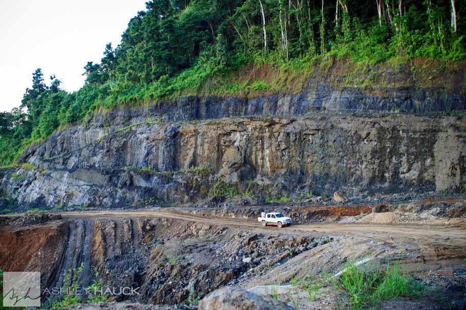 Harrowing roads in Fiji