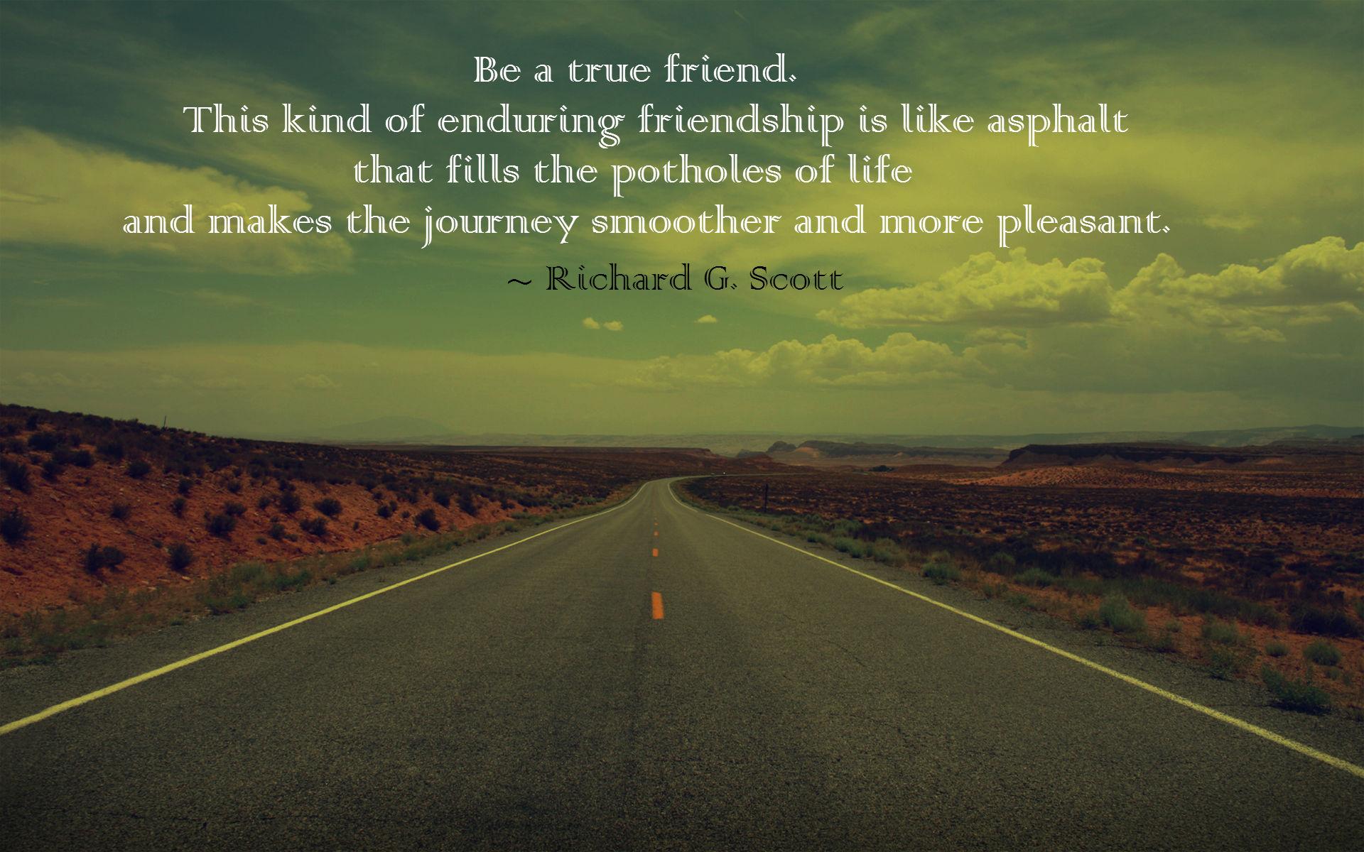 Being A True Friend