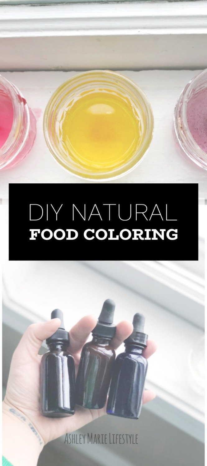 DIY Natural Food Coloring | Ashley Marie Lifestyle