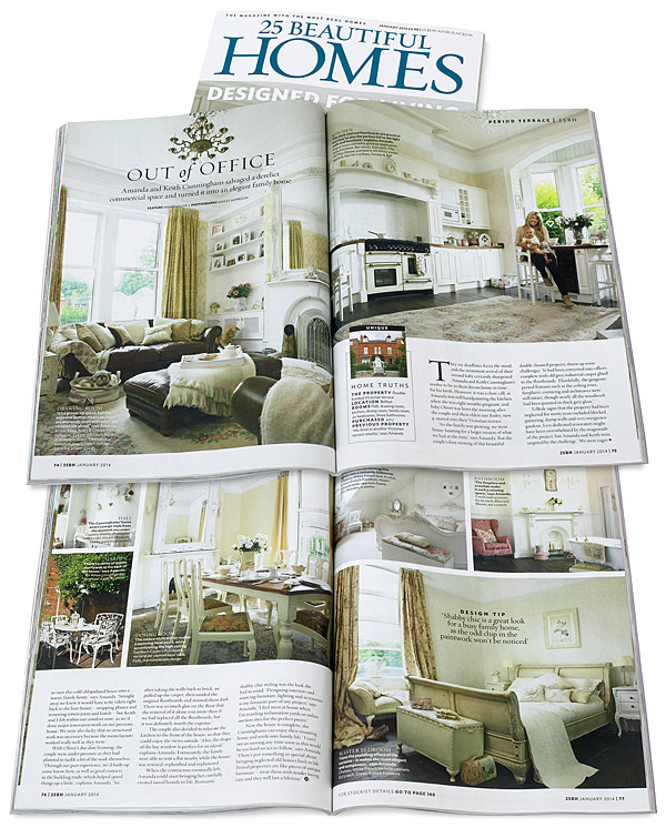 25 Beautiful Homes magazine January 2014
