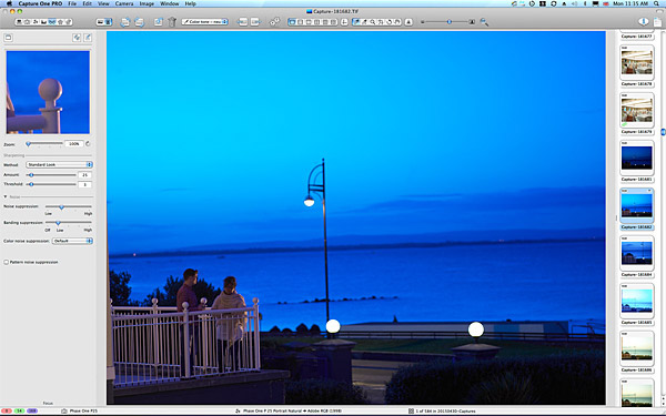 The balcony at 5:27 in the morning looking out over Galway Bay at the Galway Bay Hotel in Salthill.