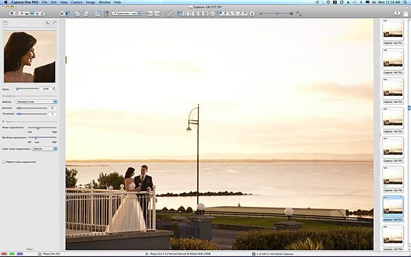Bride and Groom on the balcony at 6:46 in the morning at the Galway Bay Hotel in Salthill.