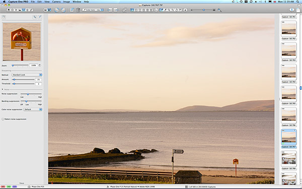From the balcony at 7:08 in the morning at the Galway Bay Hotel in Salthill.