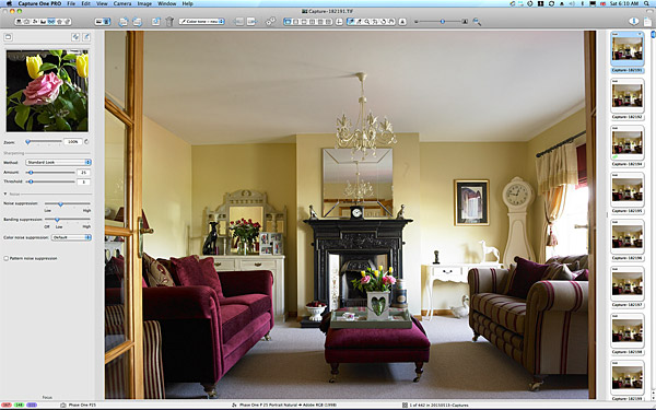 First image taken of the sitting room in Lesley & Lindsay Anderson's cottage style bungalow.