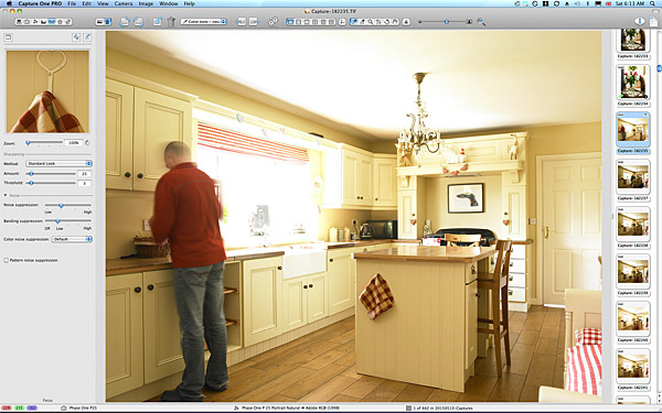 First image taken of the kitchen in Lesley & Lindsay Anderson's cottage style bungalow.