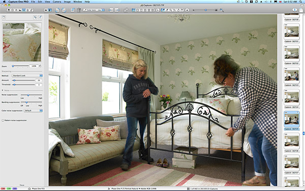 Image taken of the bedroom in Lesley & Lindsay Anderson's cottage style bungalow.