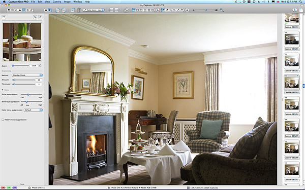 One of the first image taken of the bedroom suite at the Killarney Park Hotel in the Irish county of Kerry.