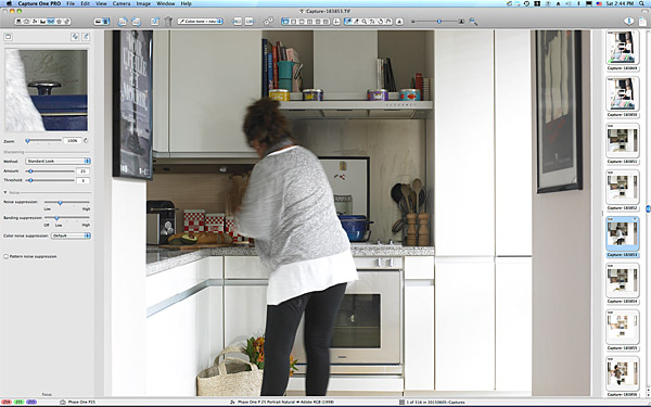 One of the first pictures taken in the kitchen of Charlotte Hamel's modern apartment in Dublin.