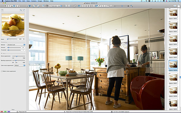 One of the first pictures taken in the living & dining area of Charlotte Hamel's modern apartment in Dublin.