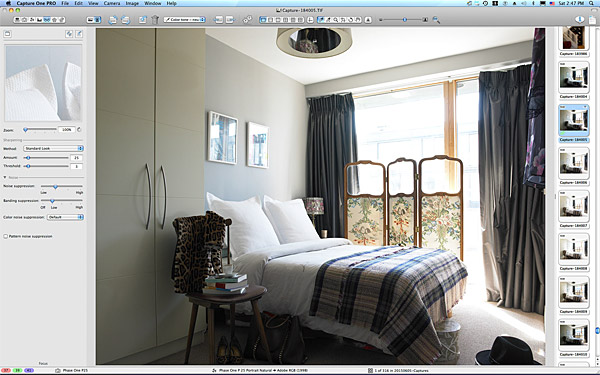 One of the first pictures taken in the bedroom of Charlotte Hamel's modern apartment in Dublin.
