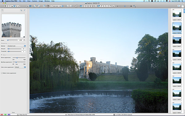 One of the first images taken at around 5:30 in the morning at Bellingham Castle in the heart of the medieval village of Castlebellingham in County Louth.