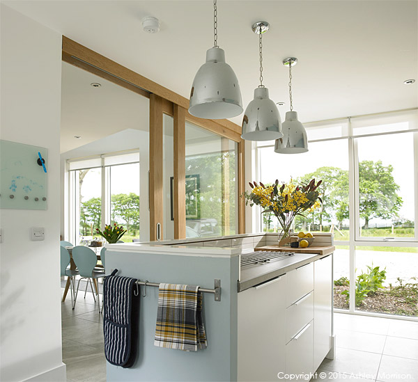 The kitchen in Kim & Derek Loughery's barn extension in County Londonderry.