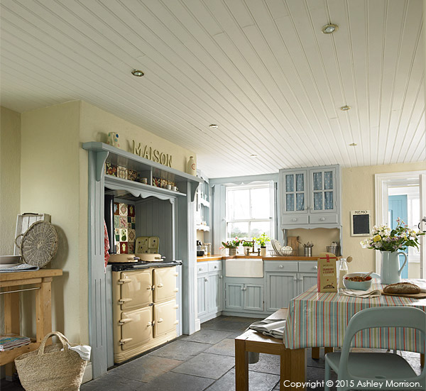 the kitchen in Jill and David Crawford's thatched cottage near the town of Portaferry in County Down.