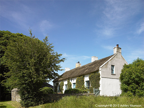 Jill and David Crawford's thatched cottage near the town of Portaferry in County Down.