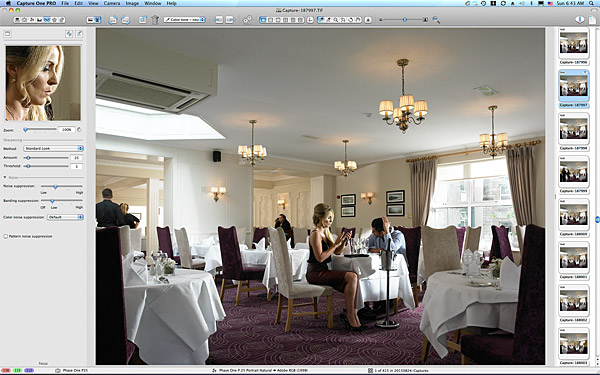 One of the first pictures taken in the restaurant at the Breaffy House Resort in County Mayo.