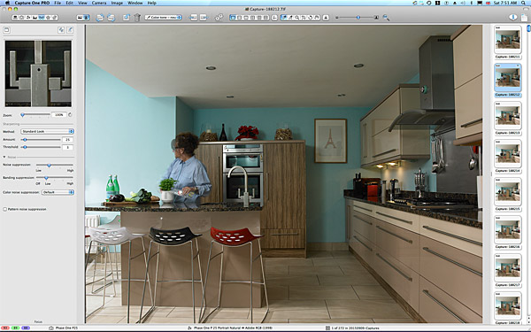 Marie working in the kitchen of Lisa & Conor McCann's detached house located in the Rosetta area of Belfast.
