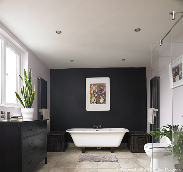 The bathroom in Lisa & Conor McCann's detached house located in the Rosetta area of Belfast.