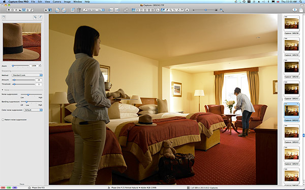 One of the first pictures taken in the family bedroom at the Galway Bay Hotel on the promenade at Salthill.