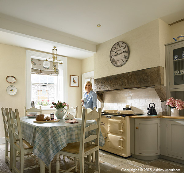 Rosemary Bothwell in the kitchen of her cottage near Fivemiletown in County Tyrone.
