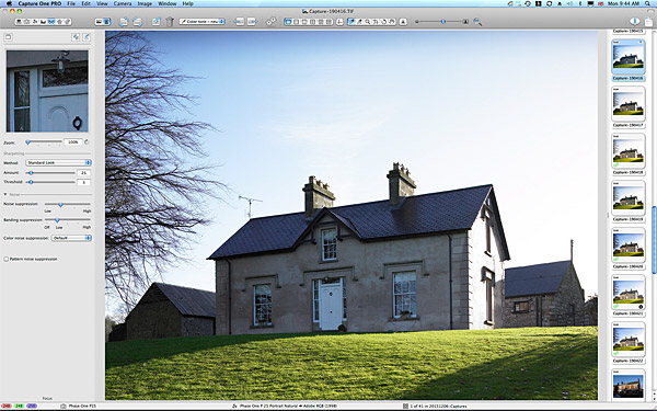 First picture taken of the exterior of Rosemary Bothwell's cottage near Fivemiletown in County Tyrone.