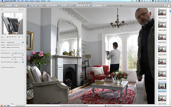 One of the first pictures taken in the sitting room of Emma and Graham Cooper's Victorian semi in Belfast.