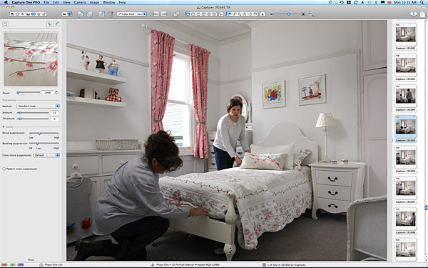 One of the first pictures taken in the bedroom of Emma and Graham Cooper's Victorian semi in Belfast.