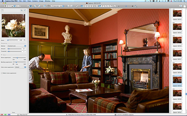 Behind the scenes during the shoot in the Library at Killarney Park Hotel.