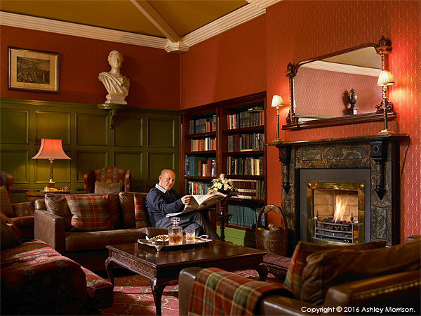 The Library at Killarney Park Hotel.
