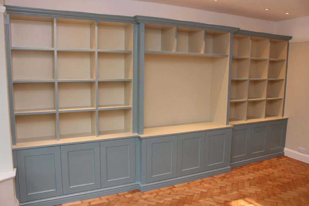 Bookshelves and TV storage