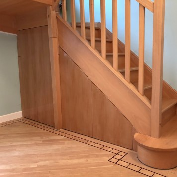 Beech understairs drawer cabinets