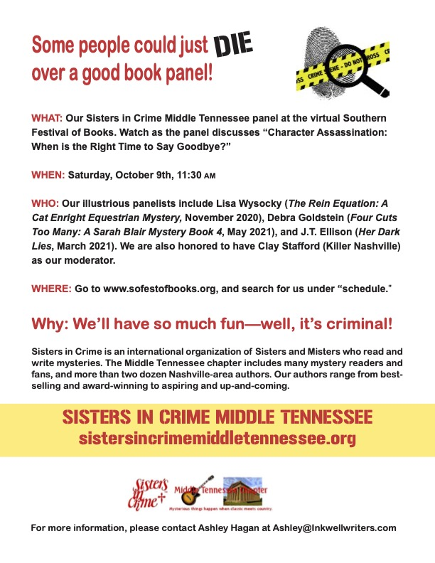 Dying to attend the Southern Festival of Books?